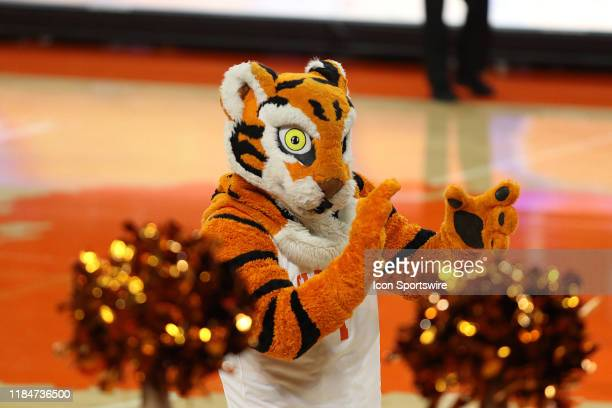 The Clemson mascot The Tiger during a college basketball game between Alabama AM Bulldogs and the Clemson Tigers on November 21 2019 at Littlejohn...