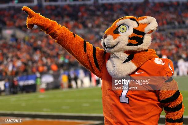 The Clemson mascot 'The Tiger' during the ACC football championship game between the Virginia Cavaliers and the Clemson Tigers on December 7 at Bank...