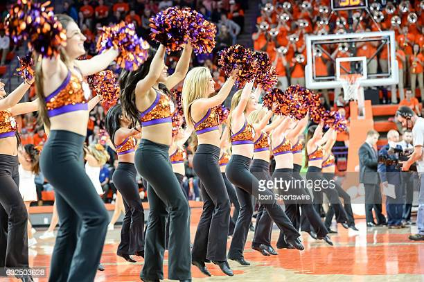The Clemson Rally Cats during 2nd half action between the Clemson Tigers and the Virginia Tech Hokies on January 22 2017 at Littlejohn Coliseum in...