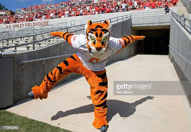 The Clemson Tiger gets fans fired up before the game Saturday against the NC State Wolfpack at Carter Finley Stadium on September 22 2007 in Raleigh...