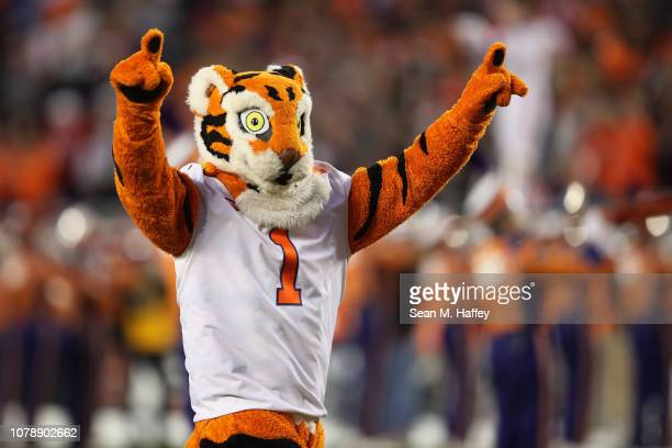 "The Clemson Tigers mascot ""the Tiger"" is seen prior to the CFP National Championship against the Alabama Crimson Tide presented by AT&T at Levi's..."