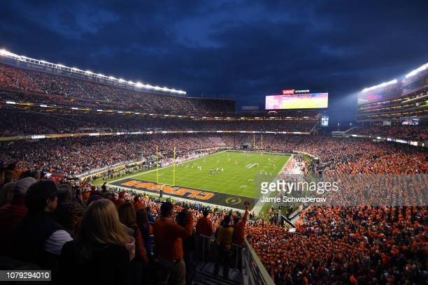 The Clemson Tigers take on the Alabama Crimson Tide during the College Football Playoff National Championship held at Levi's Stadium on January 7...