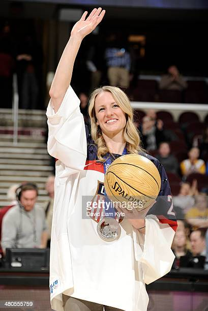 The Cleveland Cavaliers celebrate Women's History Month by honoring Brianne McLaughlin of the 2014 silver medal winning US Olympic Women's team...