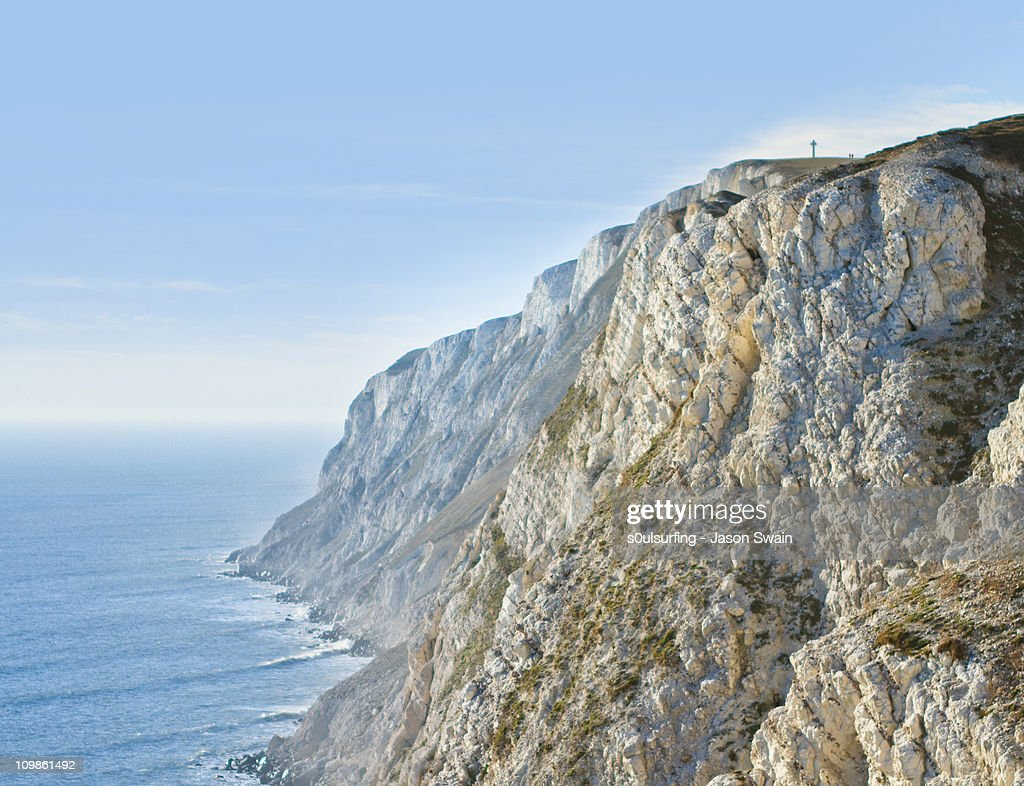 The Cliffs at Freshwater, Isle of Wight : Stock Photo