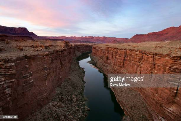The cliffs of Marble Gorge, east of Grand Canyon National Park, are visited by the rare and endangered California condor March 21, 2007 west of Page,...