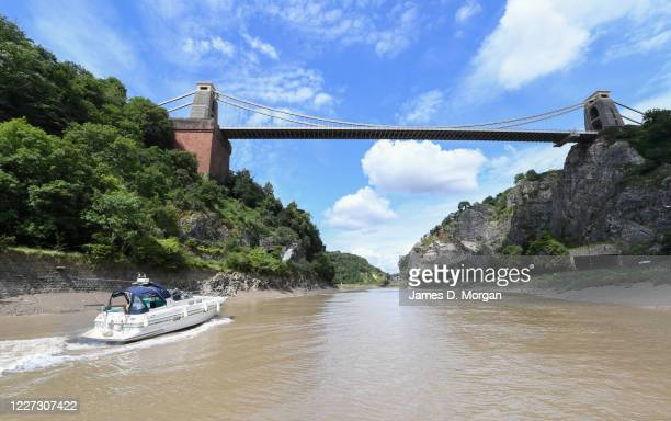 The Clifton Suspension Bridge as seen from the River Avon underneath the structure on July 27 2019 in Bristol England The Clifton Suspension Bridge...
