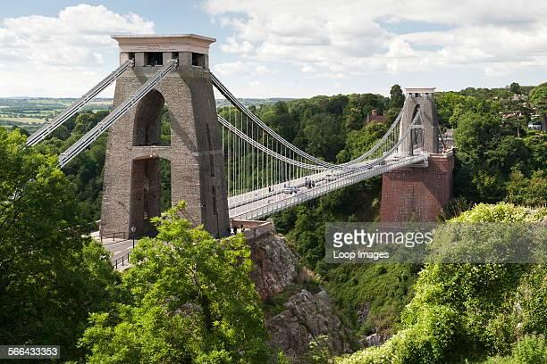 The Clifton Suspension Bridge spanning the Avon River in Bristol