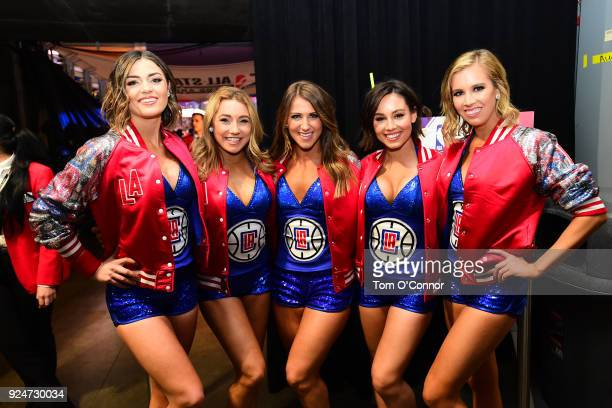 the LA Clippers cheerleaders look on during the NBA AllStar Game 2018 on February 18 2018 at the Staples Center in Los Angeles California NOTE TO...