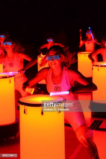 the LA Clippers dance team performs prior to the game against the Houston Rockets on January 15 2018 at STAPLES Center in Los Angeles California NOTE...