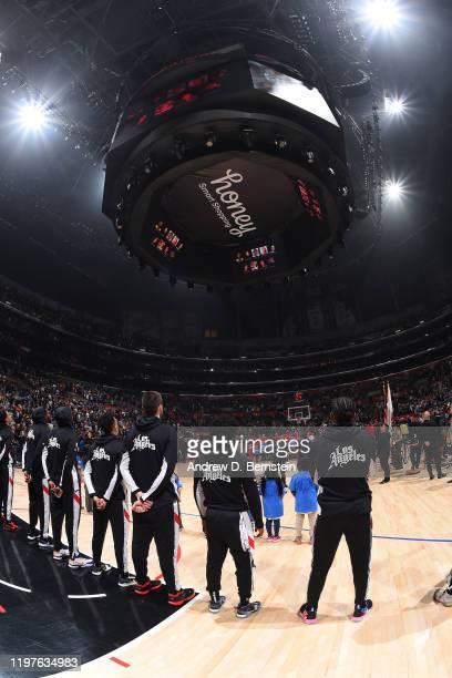 The LA Clippers honor Kobe Bryant Gianna Bryant John Altobelli Keri Altobelli Alyssa Altobelli Christina Mauser Sarah Chester Payton Chester and Ara...