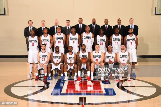 The LA Clippers pose for a team photo on February 28 2017 at Staples Center in Los Angeles California NOTE TO USER User expressly acknowledges and...
