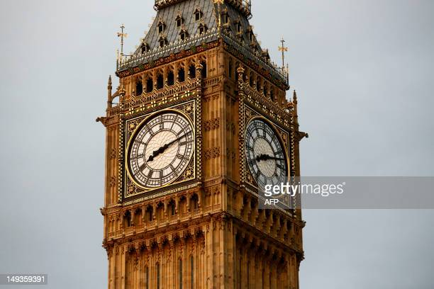 12 at The Houses of Parliament in London on July 27 during the opening ceremony of the London 2012 Olympic Games AFP PHOTO / JUSTIN TALLIS