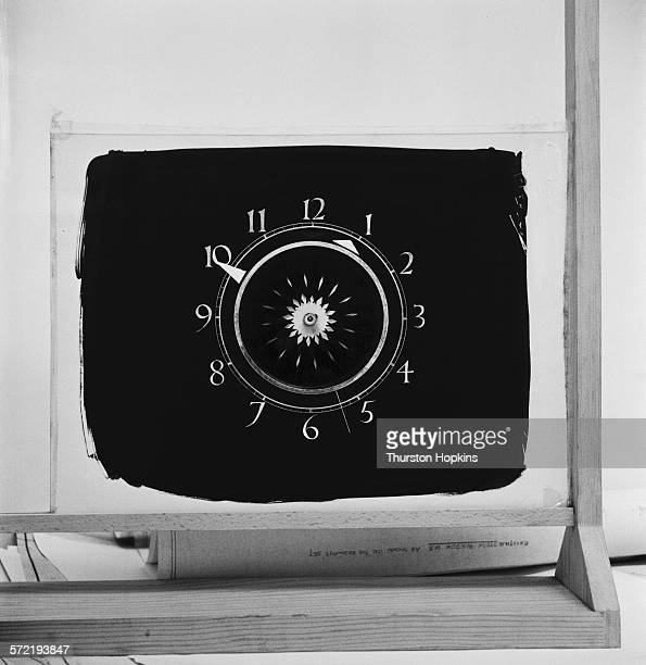 The clock face used in early broadcasts by the AssociatedRediffusion TV company September 1955 From a Picture Post magazine preview of the first week...