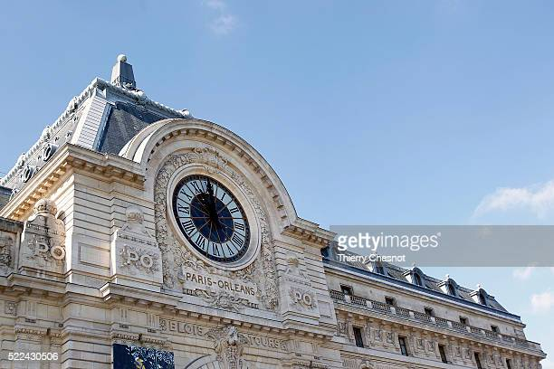The clock of the Orsay museum is seen on April 19 2016 in Paris France The clock of the Orsay museum is one of the few remnants of the days when the...