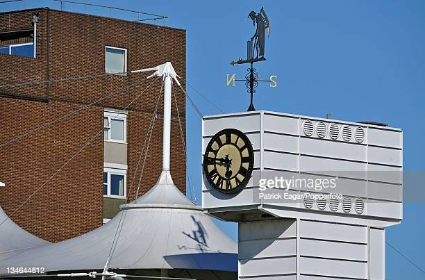 The Clock Tower at Lord's with Father Time and shadow England v Sri Lanka 2nd Test Lord's June 2011