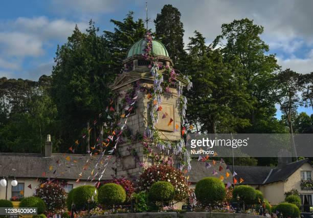 The Clock Tower decorated with flowers in the village of Enniskerry in County Wicklow. There are only two more days until filming begins for Disney's...