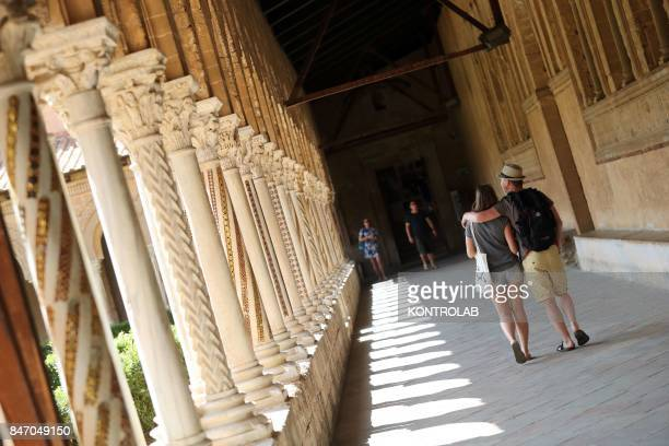 The cloister in the Cathedral of Monreale