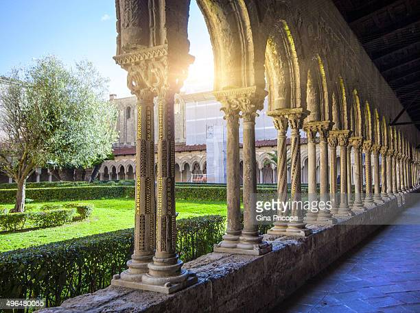 The cloister of the Cathedral of Monreale, Italy