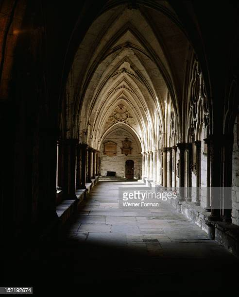 The Cloisters at Westminster Abbey England Gothic 13th century London