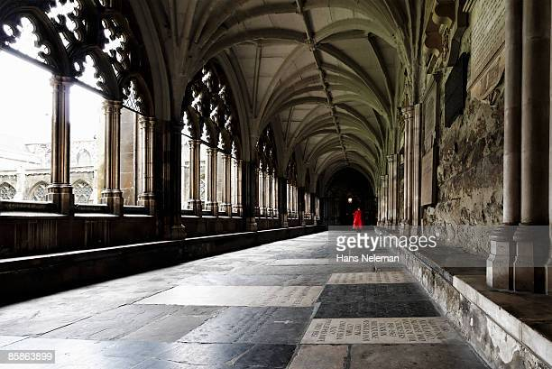 the cloisters of westminster abbey, london. - westminster abbey stock pictures, royalty-free photos & images