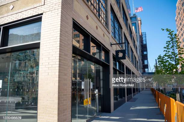 The closed Apple Store in Chelsea amid the coronavirus pandemic on April 22 2020 in New York City United States COVID19 has spread to most countries...