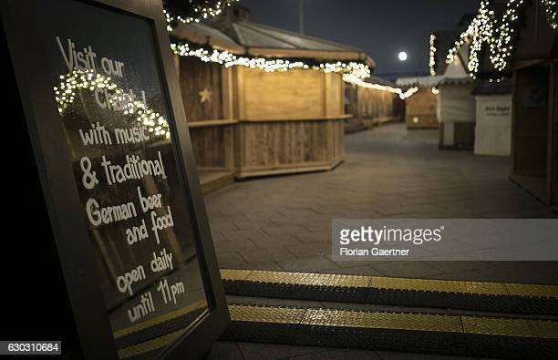 The closed christmas market on the DorotheaSchlegelPlatz is pictured the day after a truck drove into a crowded Christmas market in the city center...