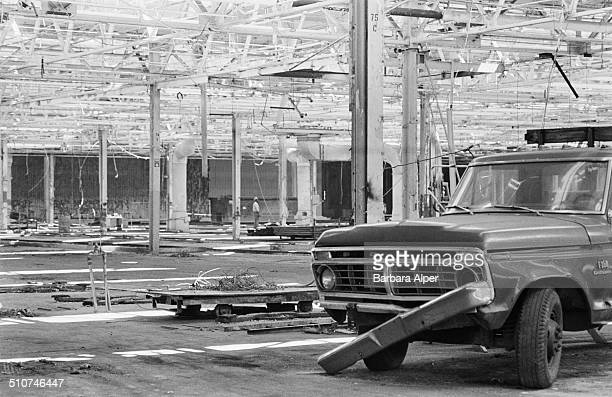 The closed Chrysler Corporation Huber Avenue Foundry in Detroit, Michigan, USA, 24th April 1986.