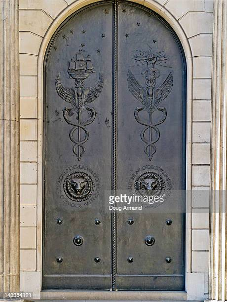 The closed doors of the Bank of England