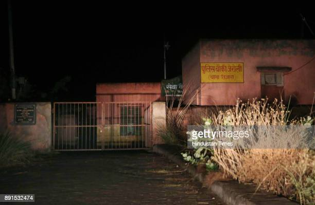 The closed gates at the Police Post at Jeroli of Tijara Police Station on intervening night of December 11 and December 12 2017 in Alwar India...