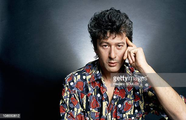 The closeup of Alain Bashung on March 22nd 1990