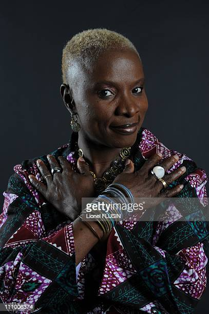 The closeup of Angelique Kidjo in Montreux Switzerland on July 10th 2009