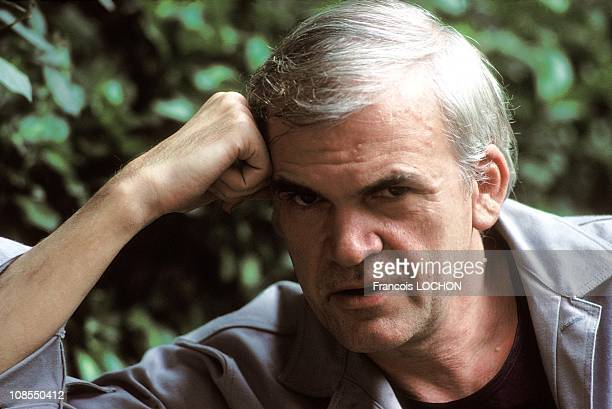 The closeup of Milan Kundera NB 186204 in Paris France on August 02nd 1984