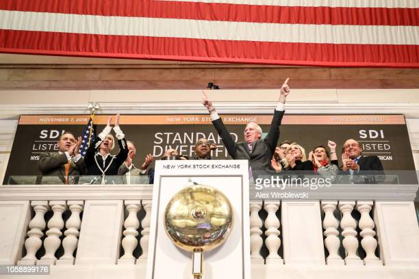 The closing bell of the New York Stock Exchange rings on the evening of November 7 2018 in New York City Stocks rose over 500 points the day after...