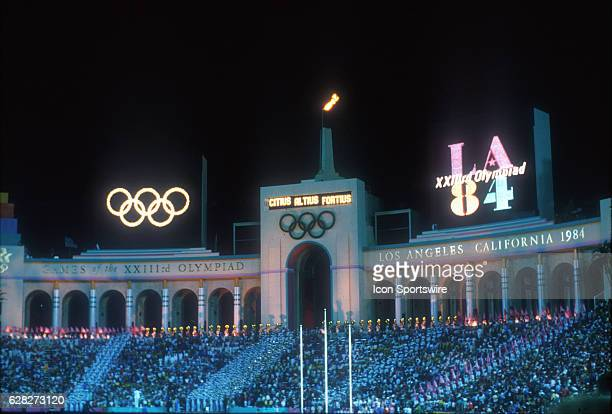 The Closing Ceremonies of the 1984 Summer Olympics at the Los Angeles Memorial Coliseum in Los Angeles CA