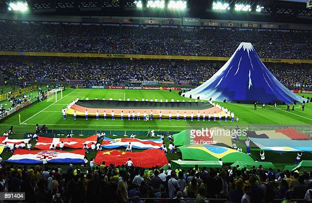 The closing ceremony before the World Cup Final match between Germany and Brazil played at the International Stadium Yokohama Yokohama Japan on June...