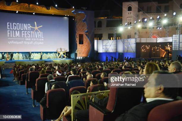 The closing ceremony of the 2nd El Gouna Film Festival on September 28 2018 in Hurghada Egypt This is the 2nd year of the El Gouna Film Festival held...
