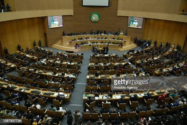 The closing session of the 32nd Ordinary Session of the African Union Summit held at African Union Headquarters in Addis Ababa Ethiopia on February...