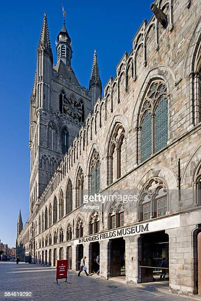 The Cloth Hall / Lakenhalle housing the In Flanders Fields Museum at Ypres Belgium