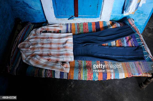 The clothes of Mohammad Akhlaq are photographed at his house at Bisada village on October 1 2015 in Greater Noida India Akhlaq was killed and his son...