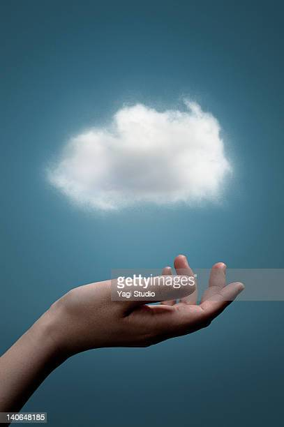 The cloud network on the palm
