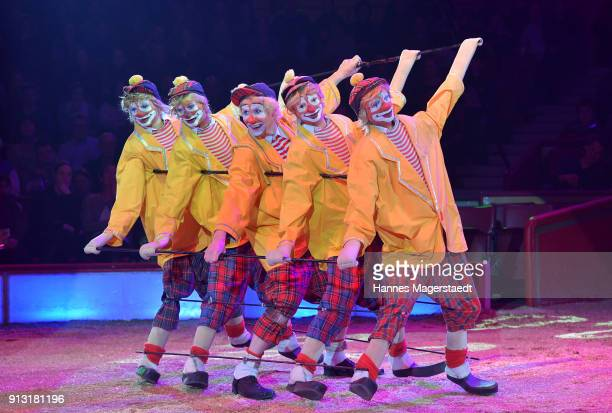 The clown Joakim Bonbo during Circus Krone celebrates premiere of 'Hommage' at Circus Krone on February 1 2018 in Munich Germany