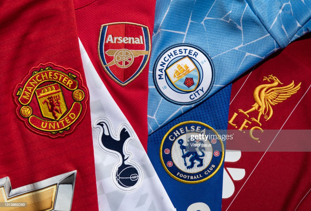 The Club Badges of the So-Called Top Six in English Football : ニュース写真