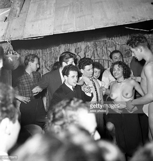 The club Tabou at SaintGermaindesPr��s in Paris In 1950
