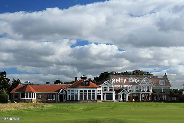 The Clubhouse at The Honourable Company of Edinburgh Golfers at Muirfield on August 31 in Gullane Lothian Scotland