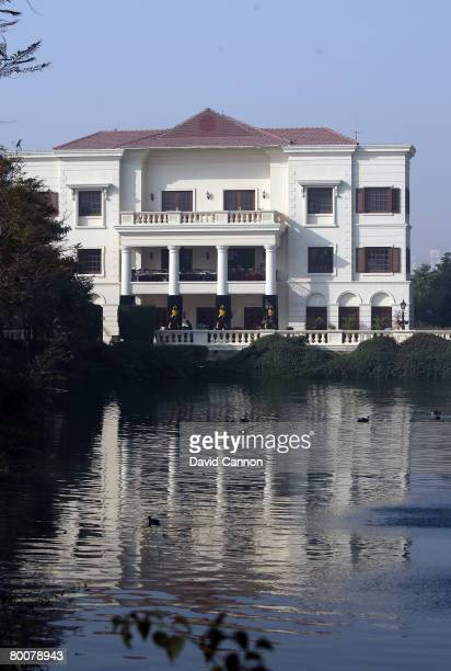 The Clubhouse is reflected in the water during the final round of the 2008 Johnnie Walker Classic held at The DLF Golf and Country Club March 2, 2008...