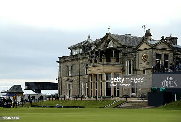 The clubhouse is seen before the start of the first round of the 144th Open Championship at The Old Course on July 16 2015 in St Andrews Scotland