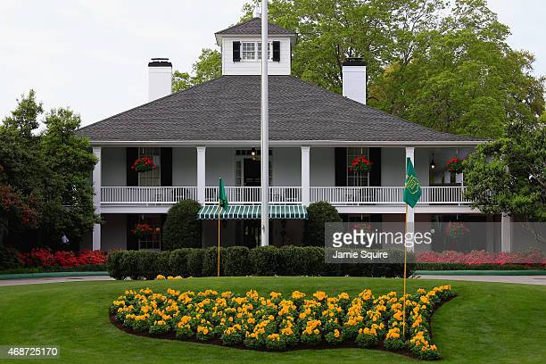 The clubhouse is seen during a practice round prior to the start of the 2015 Masters Tournament at Augusta National Golf Club on April 6 2015 in...
