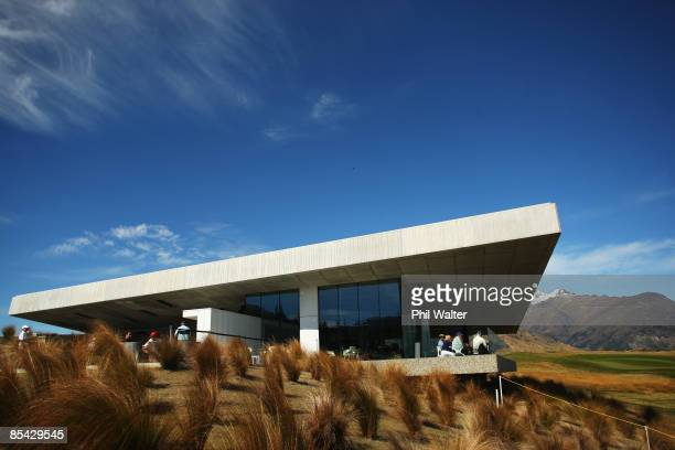 The Clubhouse overlooking the 18th green during day three of the New Zealand Men's Open Championship at The Hills Golf Club on March 14 2009 in...
