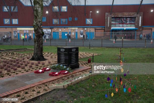 The club's memorial garden located outside the stadium, pictured before Burnley hosted Everton in an English Premier League fixture at Turf Moor....