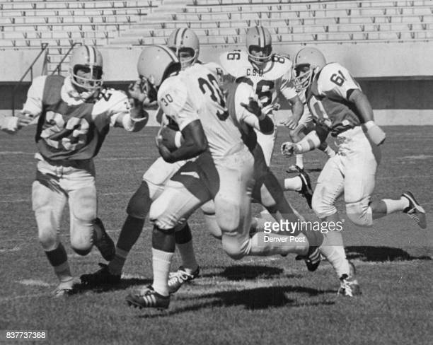SEP 12 1969 'The Clutch' In Gear On 47Yard Touchdown Romp Lawrence McCutcheon Colorado State University sophomore running sensation eludes defenders...